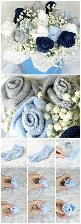 آموزش درست کردن دسته گل با جوراب