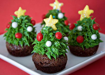 تزیین کاپ کیک ویژه کریسمس,تزیین کیک کریسمس