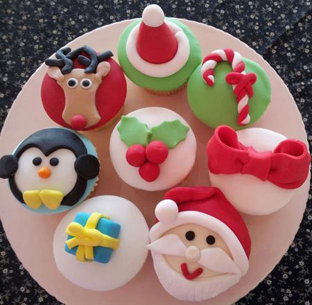 تزیین کاپ کیک کریسمس, تزیین کاپ کیک ویژه کریسمس