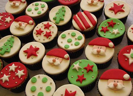 ایده برای تزیین کاپ کیک کریسمس, روش تزیین کاپ کیک کریسمس