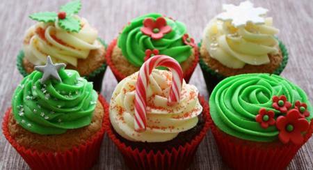 ایده هایی برای تزیین کاپ کیک کریسمس,کاپ کیک کریسمس
