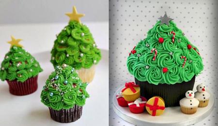 روش تزیین کاپ کیک کریسمس, ایده هایی برای تزیین کاپ کیک کریسمس