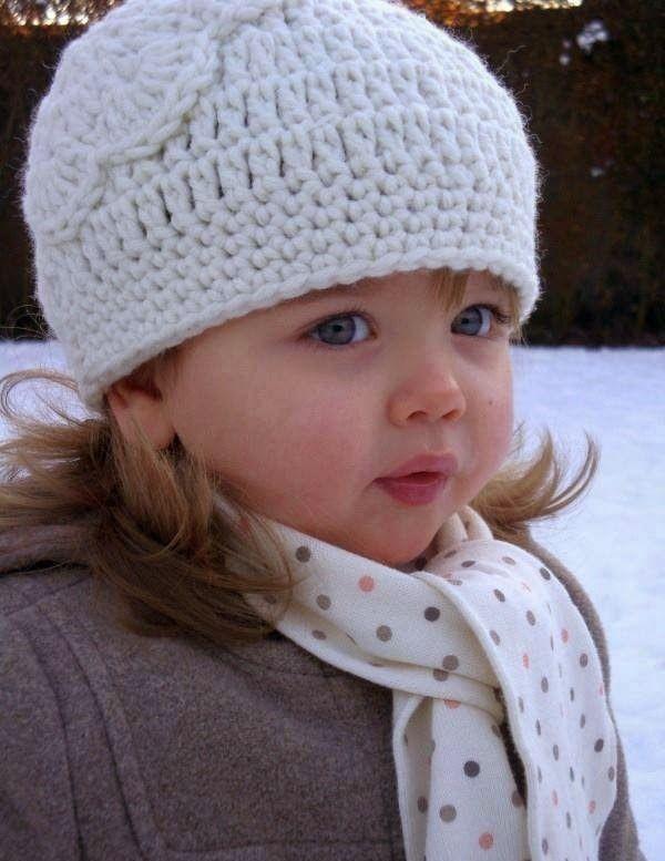 مدل کلاه بافتنی دخترانه بچه گانه جدید