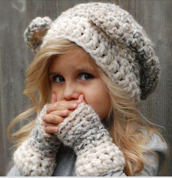 جدیدترین مدل کلاه بافتنی دخترانه بچه گانه