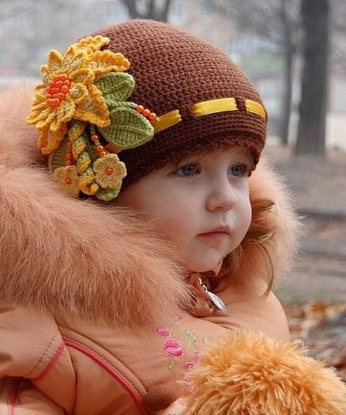 مدل شال و کلاه بافتنی بچه گانه دخترانه جدید