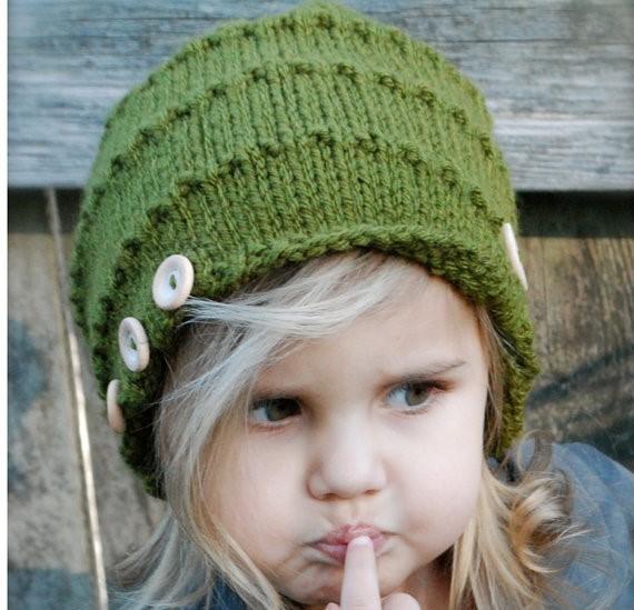 کلاه بافتنی دخترانه بچه گانه جدید