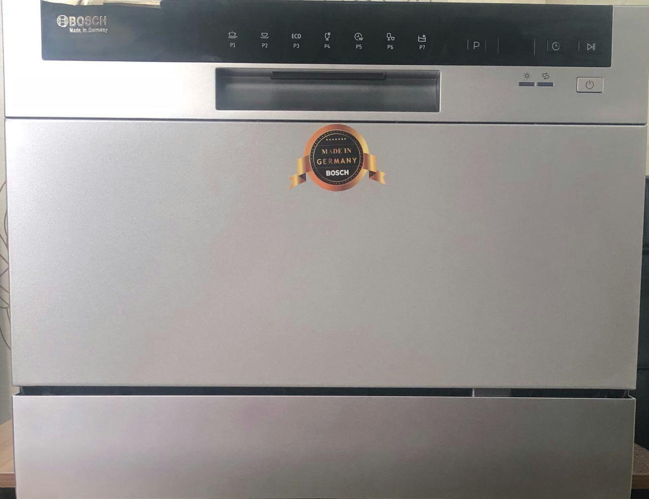 ظرفشویی رومیزی بوش bosch تاچ دیجیتال برنامه های متنوع شستشو و خشک کن. قابلیت نیم شور