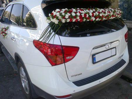 تزیین ماشین عروس با گل,مدل ماشین عروس