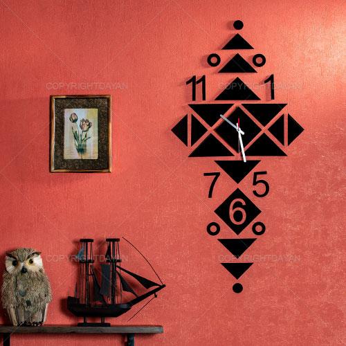 فروش ساعت دیواری دکوراتیو چوبی با روکش مخمل نرگس