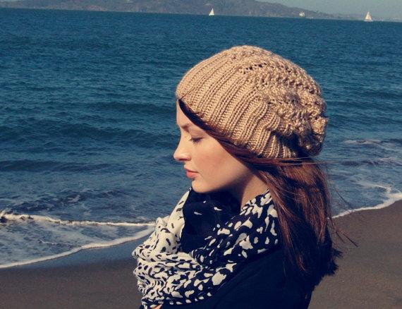 جدیدترین مدل های شال و کلاه بافتنی دخترانه