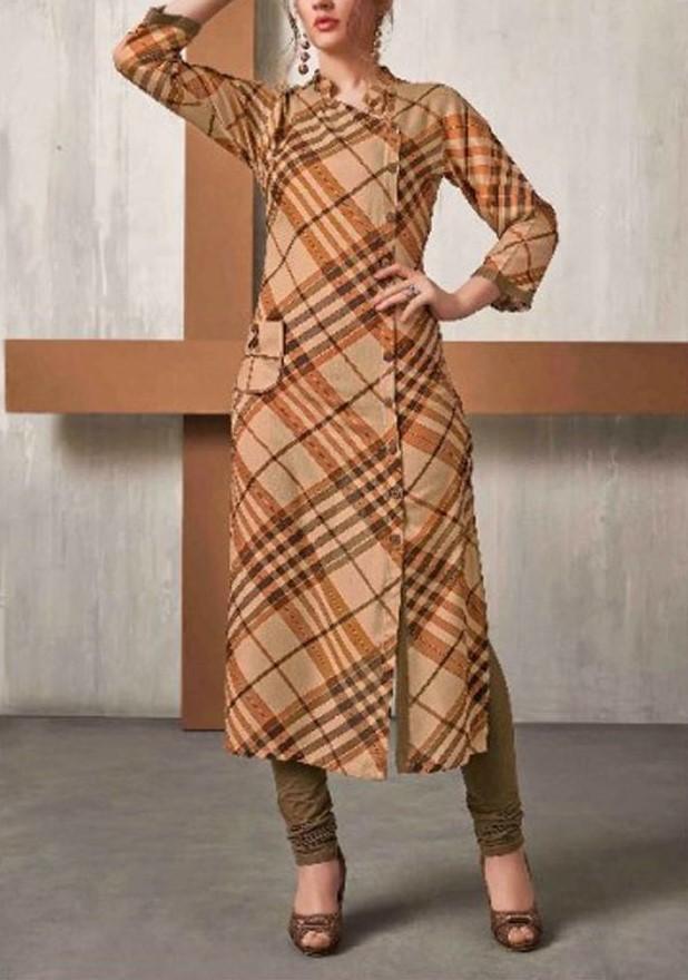 مدل مانتو چهارخونه بهاری 2019