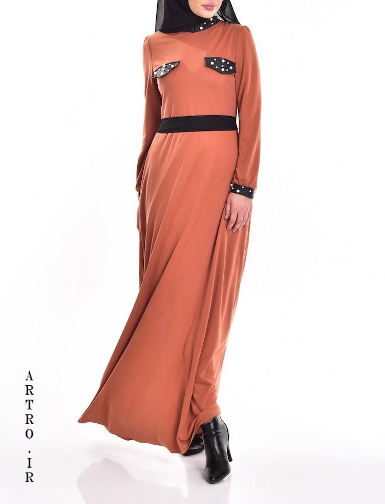 مدل مانتو با رنگ مرجانی