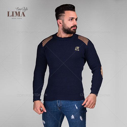 بافت مردانه Lima مدل R2918 سرمه ای و جگری