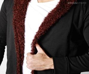 خرید پستی هودی خزدار مردانه Woolen