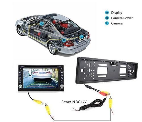 فروش قاب پلاک خودرو همراه با دوربین عقب مدل EU