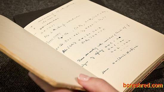 دست نوشته های پدر علم هوش مصنوعی / آلن تورینگ