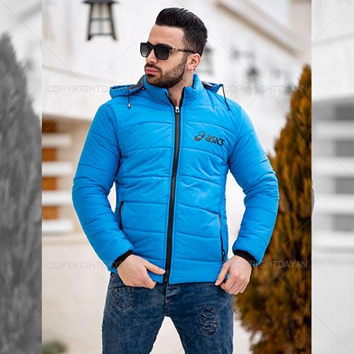 فروش کاپشن مردانه Asics مدل R4690 آبی و قرمز