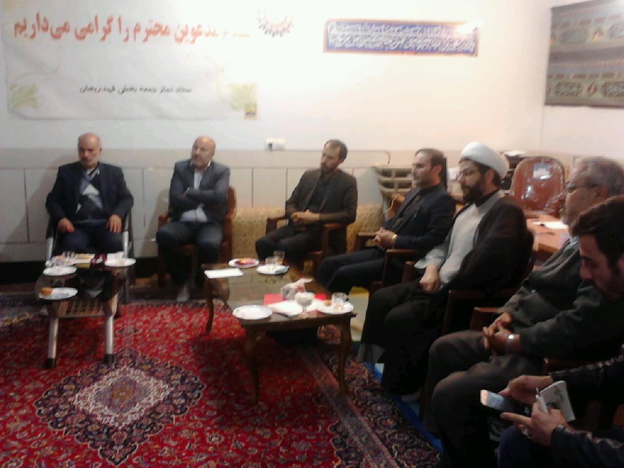 برگزاری جلسه کمیته مالی و پشتیبانی کنگره شهدا با حضور اعضا و امام جمعه محترم قهدریجان