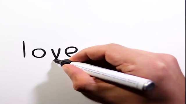 چگونه با کلمه love مرد و زن بکشیم