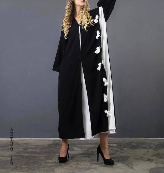 انواع مدل مانتو بلند مشکی