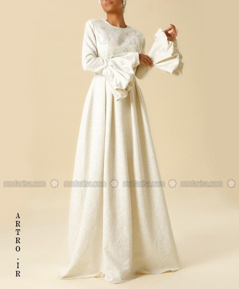 مدل لباس عروس پوشیده اروپایی