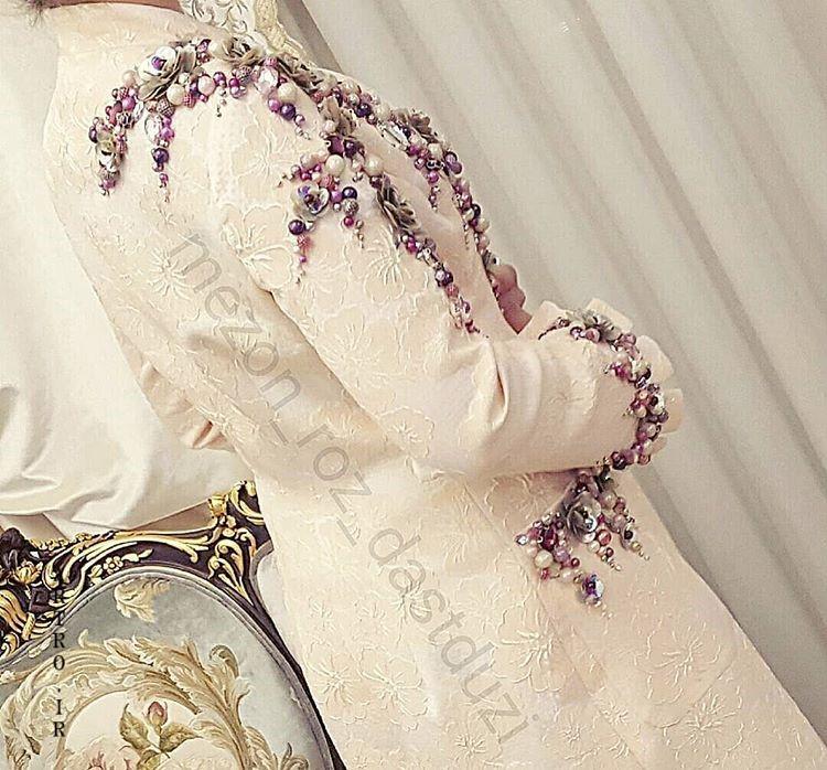 مدل مانتو سفید مجلسی برای عقد