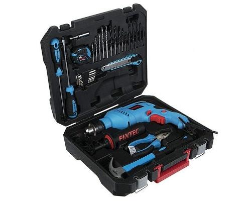 دریل چکشی فیکس تک و جعبه ابزار مدل FID600K50