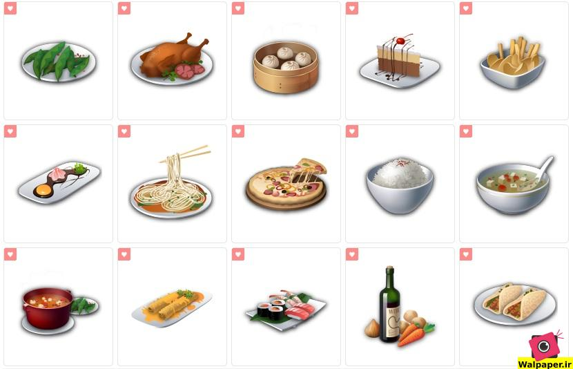 پک آیکون غذا با کیفیت بالا و لینک مستقیم