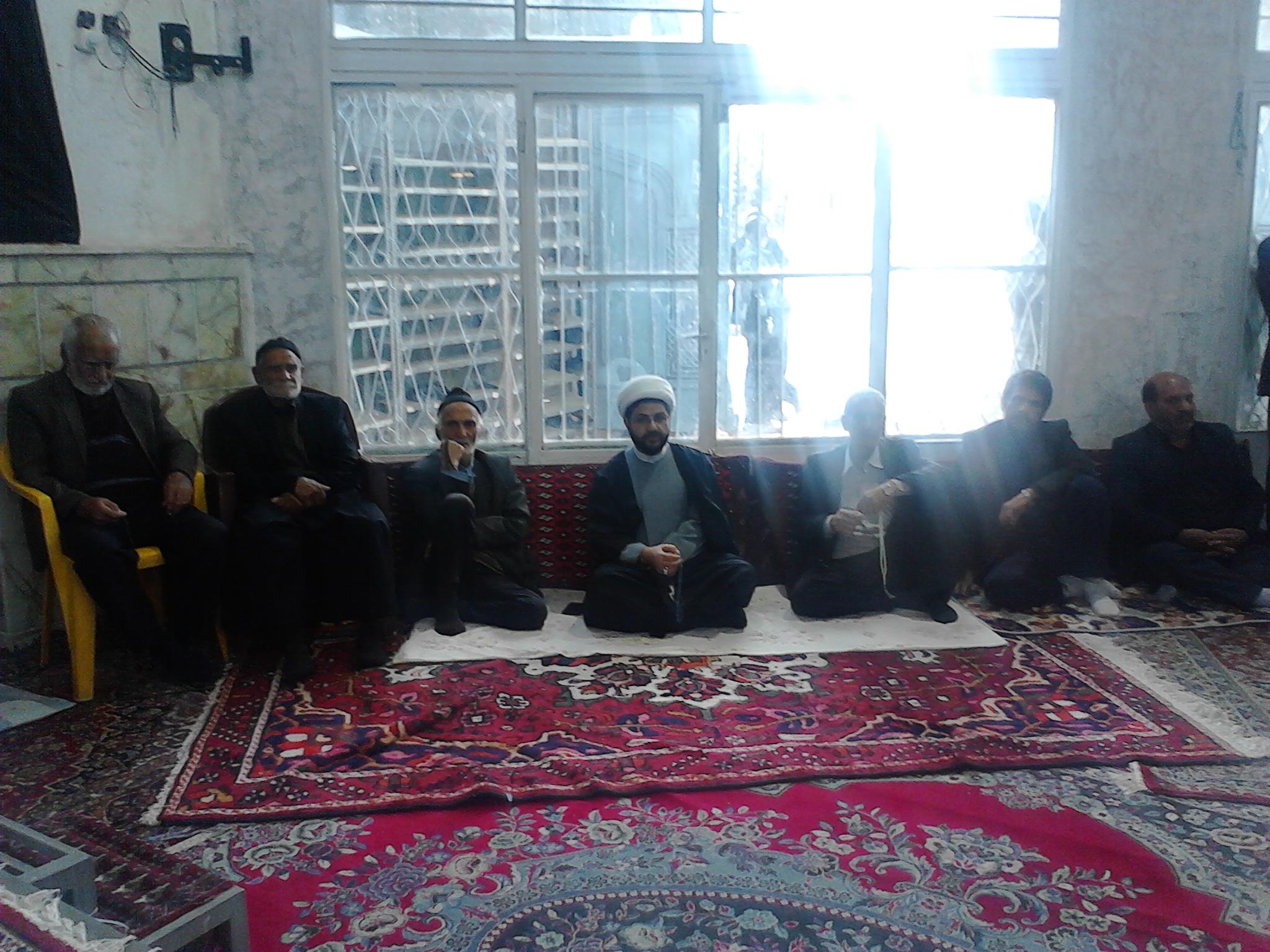 حضور امام جمعه محترم در مراسم ترحیم حاجیه خانم حشمت در مسجد بلال قهدریجان