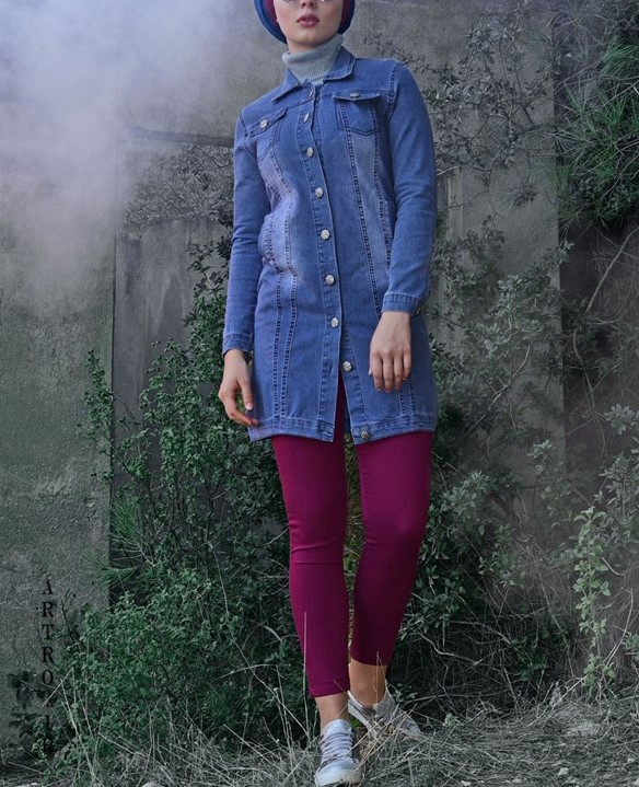 مدل مانتو جین ترک