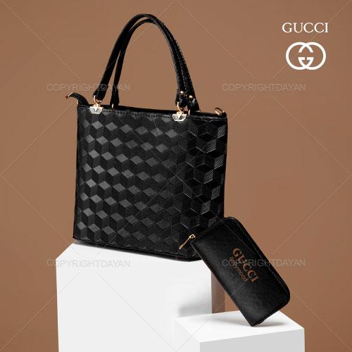 ست کیف زنانه Gucci مدل I3500 - کیف دستی ،رودوشی و پول