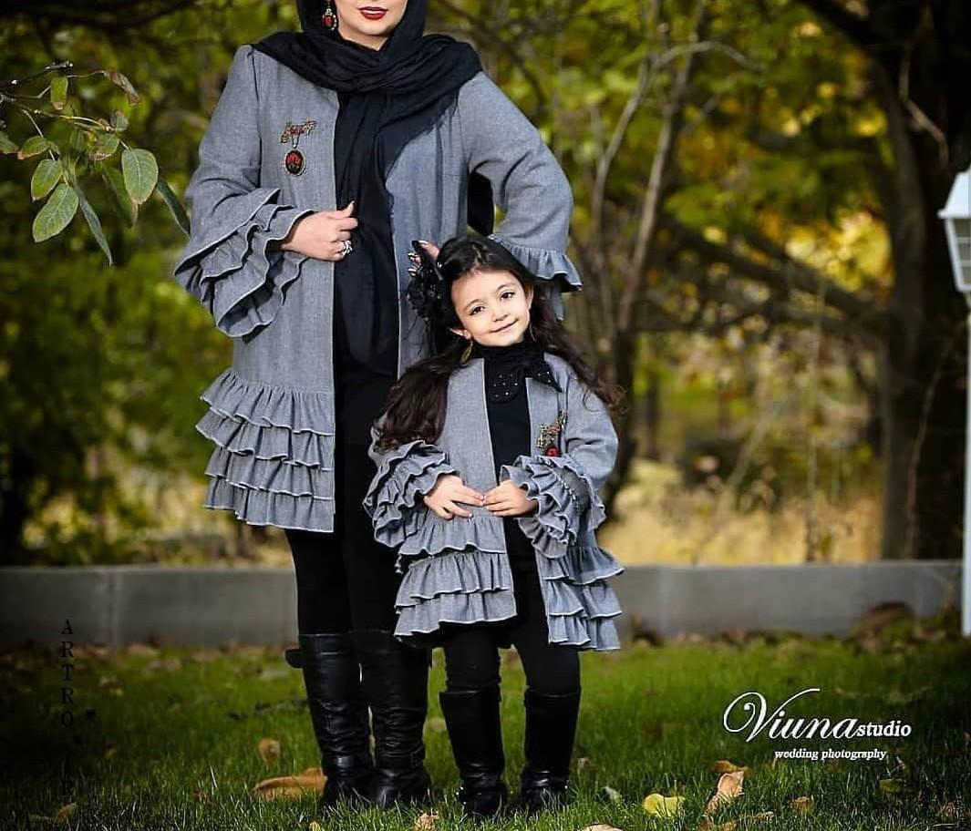 مدل مانتو های ست مادر و دختر
