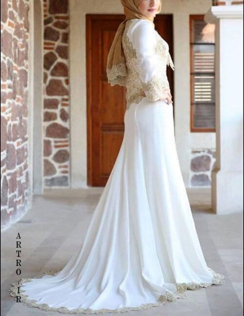 مدل های جديد لباس عروس محجبه و باحجاب