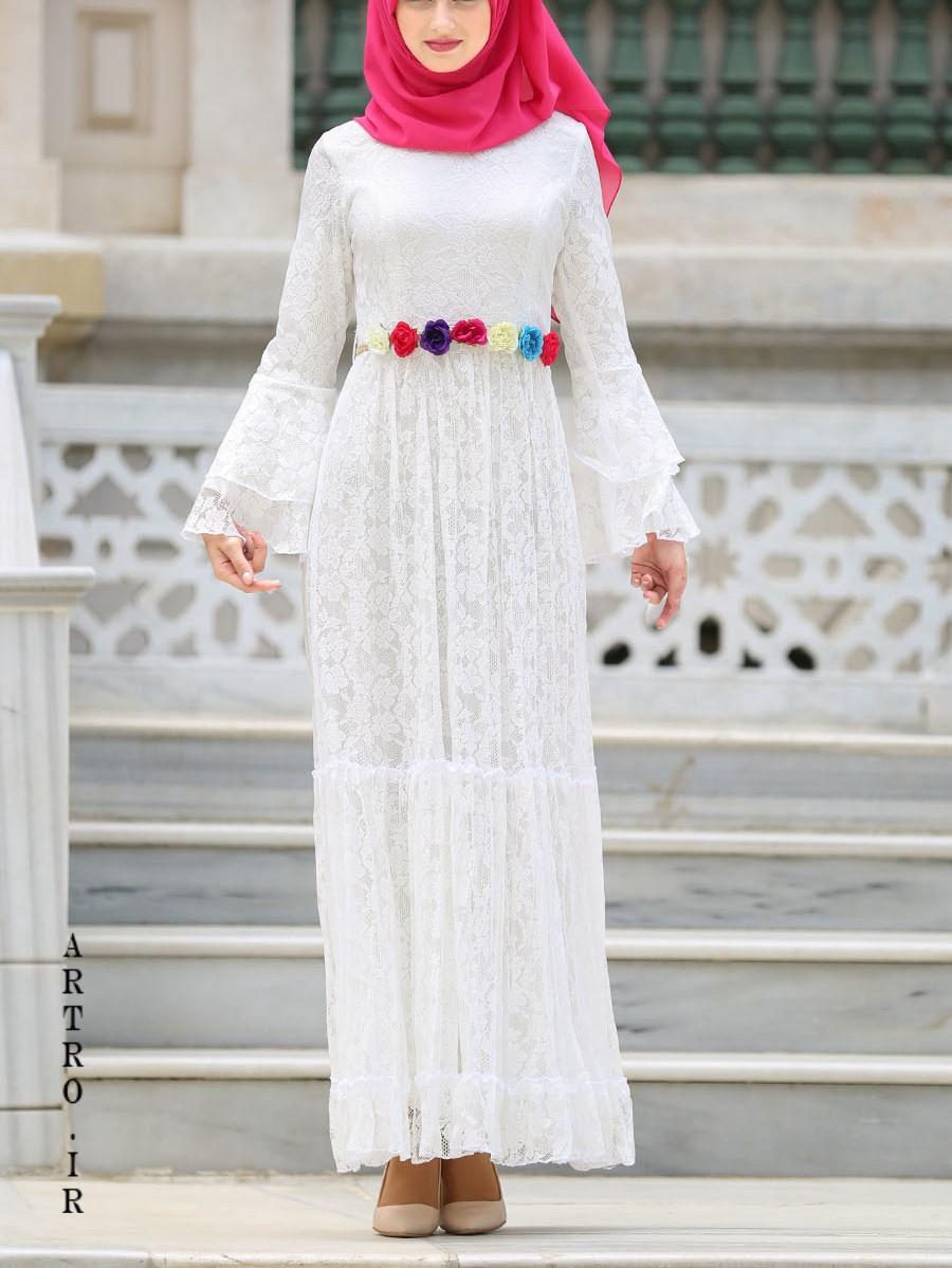 جدیدترین مدل های لباس عروس با حجاب