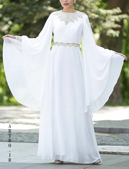 مدل لباس عروس با حجاب ایرانی