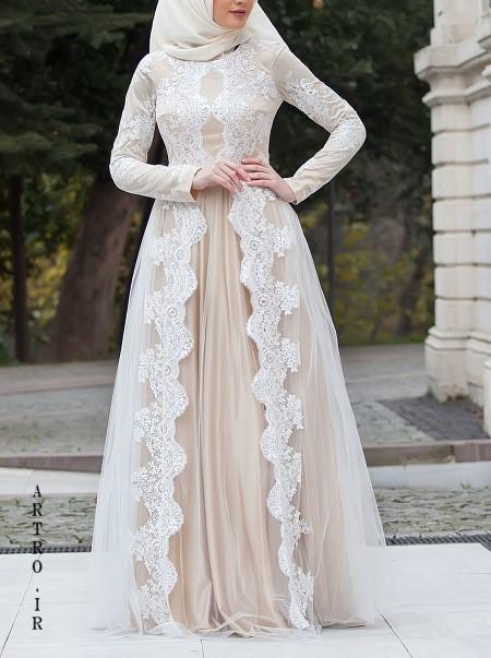 مدل لباس عروس باحجاب 98