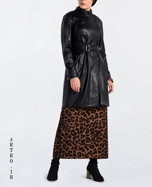 مدل مانتو زنانه شیک چرمی