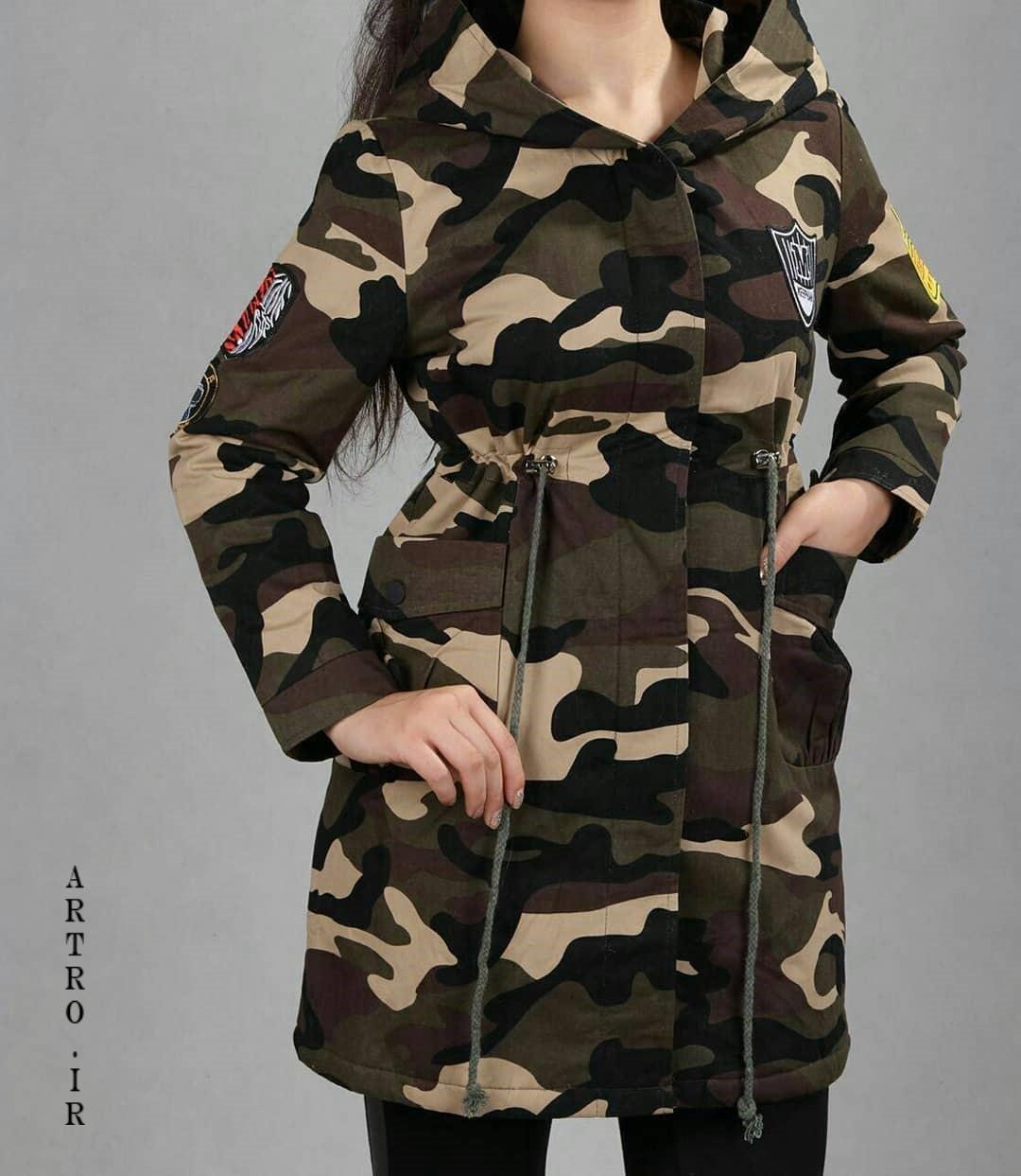 مدل مانتو زنانه شیک نظامی