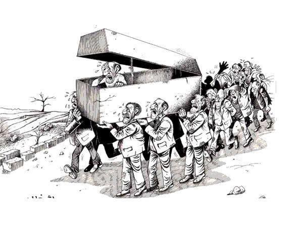 کاریکاتور - آمادگی مرگ (تشییع جنازه)