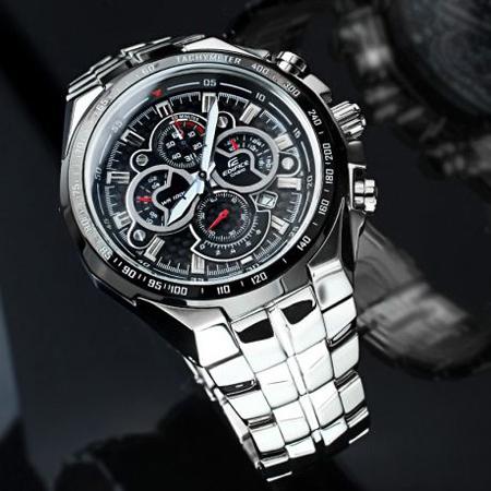 خرید ساعت مردانه ضد آب کاسیو فلزی Casio EF-554