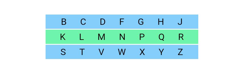 حروف انکلیسی بیصدا