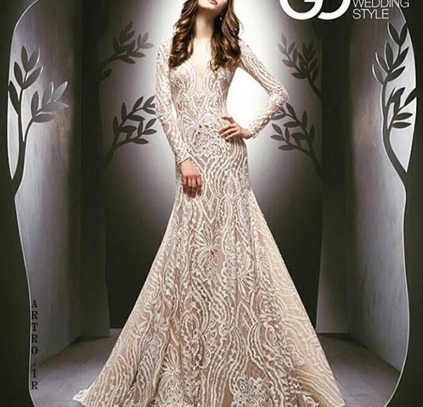 مدل لباس عروس جدید استین دار