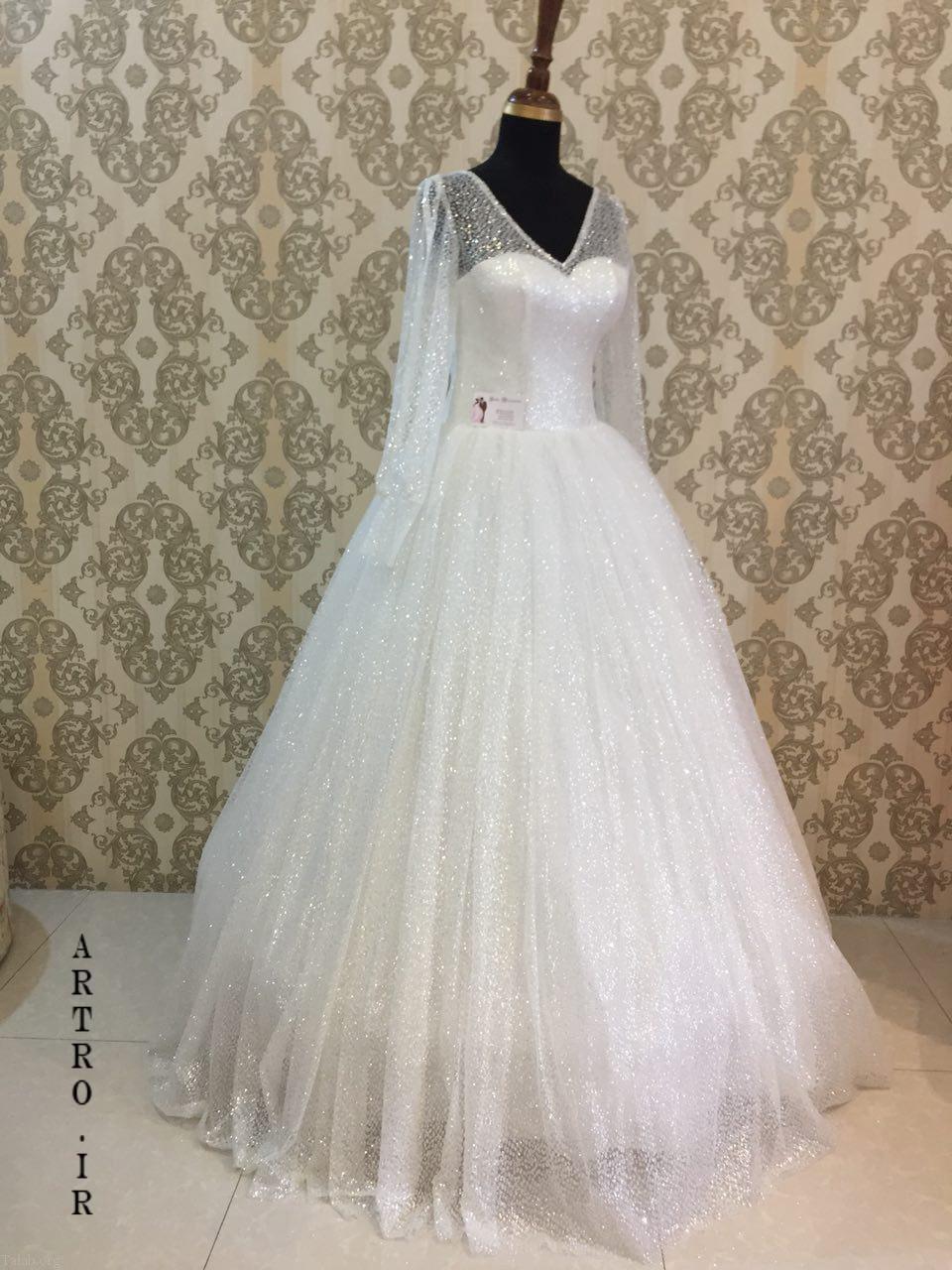 مدل لباس عروس جدید با استین