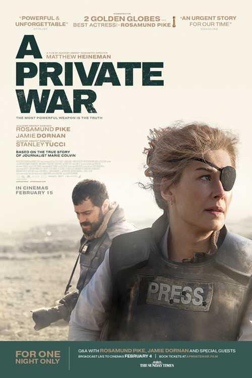 دانلود فیلم یک جنگ خصوصی       A Private War 2018
