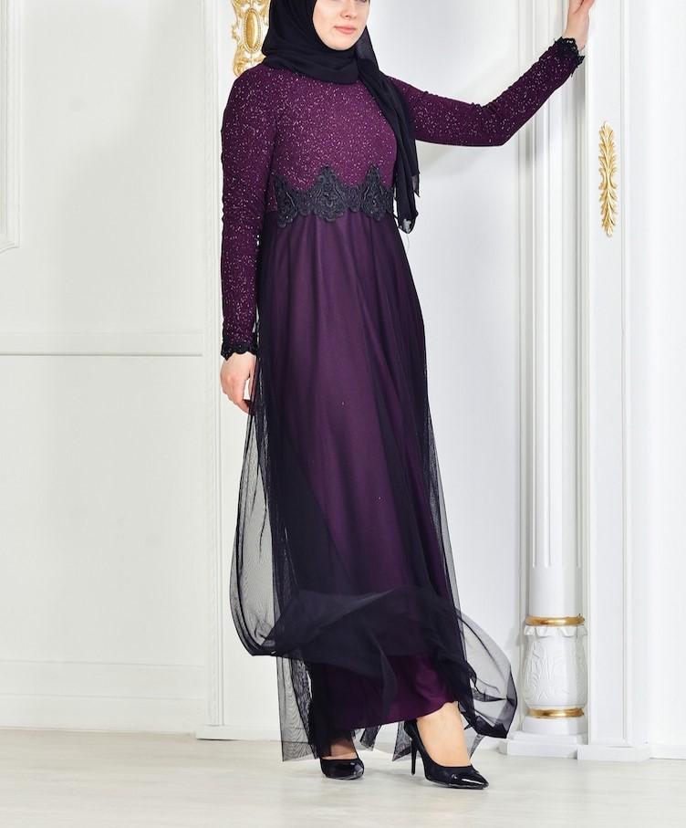مدل لباس مجلسی زنانه بلند استین دار