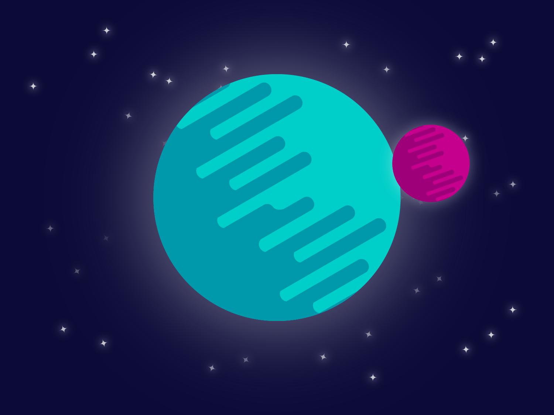 طراحی سیارات و فضا در ایلوستریتور
