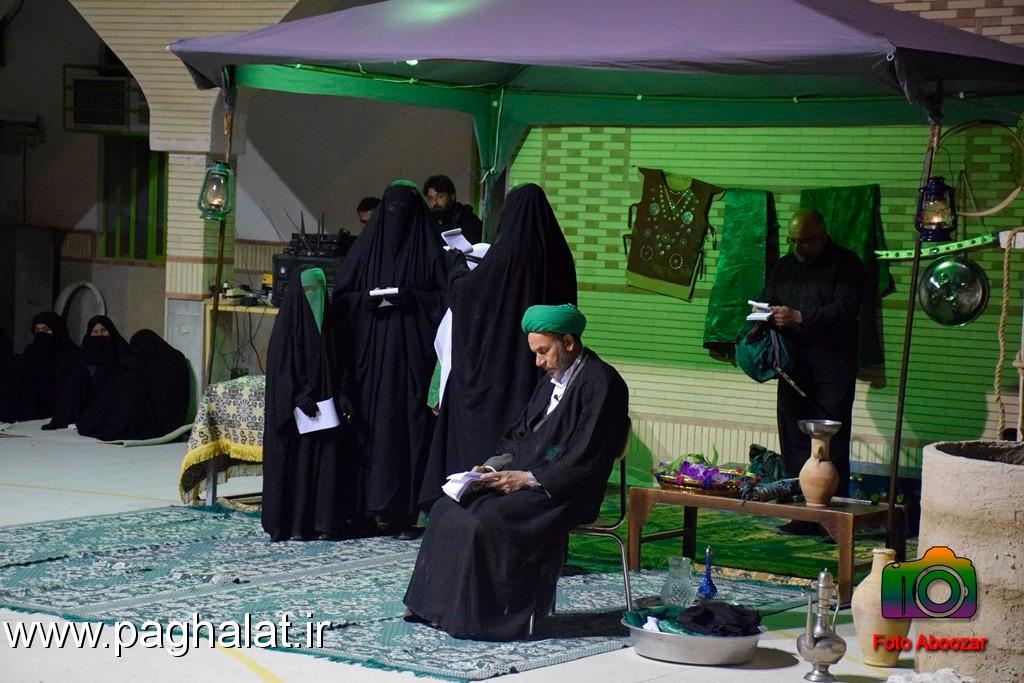 تعزیه شهادت حضرت فاطمه زهرا(س) در روستای پاقلات