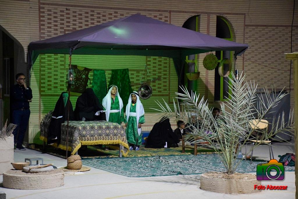 برگزاری تعزیه شهادت حضرت فاطمه زهرا(س) در روستای پاقلات/ تصاویر
