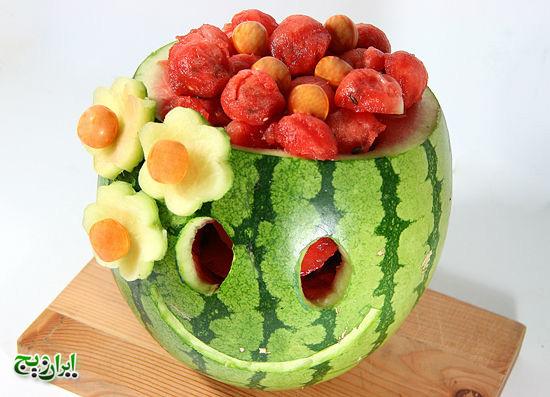 یک تزئین جذاب با هندوانه