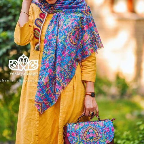 مدل روسری طرح سنتی